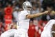 Oct 19, 2017; Oakland, CA, USA; Oakland Raiders quarterback Derek Carr (4) calls a play against the Kansas City Chiefs in the first quarter at Oakland Coliseum. Mandatory Credit: Cary Edmondson-USA TODAY Sports