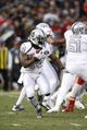 Oct 19, 2017; Oakland, CA, USA; Oakland Raiders running back Marshawn Lynch (24) runs the ball against the Kansas City Chiefs in the first quarter at Oakland Coliseum. Mandatory Credit: Cary Edmondson-USA TODAY Sports