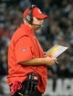 Oct 19, 2017; Oakland, CA, USA; Kansas City Chiefs head coach Andy Reid on the sideline against the Oakland Raiders during the second quarter at Oakland Coliseum. Mandatory Credit: Kelley L Cox-USA TODAY Sports