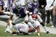 Oct 21, 2017; Manhattan, KS, USA; Kansas State Wildcats defensive back Elijah Walker (7) tries to get a loose ball during first-quarter against the Oklahoma Sooners at Bill Snyder Family Stadium. The Sooners won the game 42-35. Mandatory Credit: Scott Sewell-USA TODAY Sports