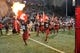 Oct 21, 2017; Pullman, WA, USA; The Washington State Cougars runs out onto to the field before a game against the Colorado Buffaloes at Martin Stadium. Mandatory Credit: James Snook-USA TODAY Sports