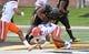 Nov 4, 2017; Columbia, MO, USA; Missouri Tigers running back Ish Witter (21) runs the ball as Florida Gators defensive back Jeawon Taylor (29) makes the tackle during the first half at Faurot Field. Mandatory Credit: Denny Medley-USA TODAY Sports