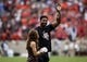 Nov 4, 2017; College Station, TX, USA; Cleveland Browns defensive end Myles Garrett waves to the crowd before a game between the Texas A&M Aggies and the Auburn Tigers at Kyle Field. Mandatory Credit: Troy Taormina-USA TODAY Sports