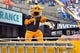 Nov 4, 2017; Columbia, MO, USA; The Missouri Tigers mascot Truman entertains fans during the game against the Florida Gators at Faurot Field. Mandatory Credit: Denny Medley-USA TODAY Sports