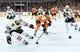 Nov 9, 2017; Philadelphia, PA, USA; Chicago Blackhawks defenseman Jan Rutta (44) and Philadelphia Flyers center Travis Konecny (11) battle for the puck during the first period at Wells Fargo Center. Mandatory Credit: Eric Hartline-USA TODAY Sports