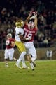 Nov 25, 2017; Stanford, CA, USA; Stanford Cardinal wide receiver JJ Arcega-Whiteside (19) makes a catch during the first quarter against the Notre Dame Fighting Irish at Stanford Stadium. Mandatory Credit: Sergio Estrada-USA TODAY Sports