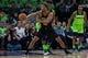 Dec 16, 2017; Minneapolis, MN, USA; Phoenix Suns forward TJ Warren (12) passes in the second quarter against the Minnesota Timberwolves at Target Center. Mandatory Credit: Brad Rempel-USA TODAY Sports