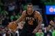 Dec 16, 2017; Minneapolis, MN, USA; Phoenix Suns forward TJ Warren (12) dribbles in the third quarter against the Minnesota Timberwolves at Target Center. Mandatory Credit: Brad Rempel-USA TODAY Sports