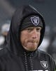 Dec 25, 2017; Philadelphia, PA, USA; Oakland Raiders offensive coordinator Todd Downing before an NFL football game against the Philadelphia Eagles at Lincoln Financial Field. Mandatory Credit: Kirby Lee-USA TODAY Sports