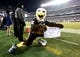 Dec 25, 2017; Philadelphia, PA, USA; Philadelphia Eagles mascot Swoop displays a message against the Oakland Raiders during an NFL football game at Lincoln Financial Field. Mandatory Credit: Kirby Lee-USA TODAY Sports