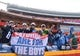 Jan 6, 2018; Kansas City, MO, USA; Tennessee Titans fans cheer before the AFC Wild Card playoff football game against the Kansas City Chiefs at Arrowhead Stadium. Mandatory Credit: Jerry Lai-USA TODAY Sports