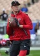 January 6, 2018; Los Angeles, CA, USA; Atlanta Falcons quarterback Matt Ryan (2) before playing against the Los Angeles Rams in the NFC Wild Card playoff football game at the Los Angeles Memorial Coliseum. Mandatory Credit: Gary A. Vasquez-USA TODAY Sports