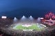 Jan 6, 2018; Los Angeles, CA, USA; General view during the singing of the national anthem before the NFC Wild Card playoff football game between the Los Angeles Rams and the Atlanta Falcons at Los Angeles Memorial Coliseum. Mandatory Credit: Kirby Lee-USA TODAY Sports