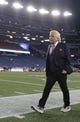 Jan 13, 2018; Foxborough, MA, USA; New England Patriots ceo Robert Kraft (left) walks the field prior to the AFC Divisional playoff game against the Tennessee Titans at Gillette Stadium. Mandatory Credit: David Butler II-USA TODAY Sports