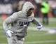 Jan 13, 2018; Foxborough, MA, USA; Tennessee Titans cornerback Adoree' Jackson (25) runs drills before the AFC Divisional Playoff game against the New England Patriots at Gillette Stadium. Mandatory Credit: Andrew Nelles/The Tennessean via USA TODAY NETWORK