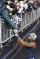 Jan 13, 2018; Foxborough, MA, USA; Tennessee Titans tight end Jonnu Smith (81) signs autographs before the AFC Divisional Playoff game against the New England Patriots at Gillette Stadium. Mandatory Credit: George Walker IV /The Tennessean via USA TODAY NETWORK