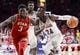 Jan 27, 2018; Tucson, AZ, USA; Arizona Wildcats guard Emmanuel Akot (24) drives to the basket as Utah Utes forward Donnie Tillman (3) defends during the second half at McKale Center. Mandatory Credit: Casey Sapio-USA TODAY Sports