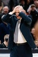 Feb 2, 2018; Boulder, CO, USA; Colorado Buffaloes head coach Tad Boyle reacts after a call in the first half against the Utah Utes at Coors Events Center. Mandatory Credit: Isaiah J. Downing-USA TODAY Sports