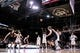 Feb 2, 2018; Boulder, CO, USA; Utah Utes forward Jayce Johnson (34) and Colorado Buffaloes guard George King (24) battle for position as guard Lazar Nikolic (11) and guard Deleon Brown (5) look on as guard McKinley Wright IV (25) attempts a free throw in the second half at Coors Events Center. Mandatory Credit: Isaiah J. Downing-USA TODAY Sports