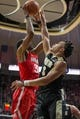 Feb 7, 2018; West Lafayette, IN, USA; Ohio State Buckeyes forward Keita Bates-Diop (33) shoots the ball while Purdue Boilermakers guard Carsen Edwards (3) defends in the second half at Mackey Arena. Mandatory Credit: Trevor Ruszkowski-USA TODAY Sports