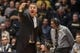 Feb 7, 2018; West Lafayette, IN, USA; Purdue Boilermakers head coach Matt Painter calls out a play from the sideline in the second half against the Ohio State Buckeyes at Mackey Arena. Mandatory Credit: Trevor Ruszkowski-USA TODAY Sports