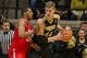 Feb 7, 2018; West Lafayette, IN, USA; Purdue Boilermakers center Isaac Haas (44) backs in on Ohio State Buckeyes forward Kaleb Wesson (34) in the second half at Mackey Arena. Mandatory Credit: Trevor Ruszkowski-USA TODAY Sports