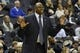 Feb 10, 2018; Washington, DC, USA; Georgetown Hoyas head coach Patrick Ewing directs his team during the first half against the Seton Hall Pirates at Capital One Arena. Mandatory Credit: Tommy Gilligan-USA TODAY Sports