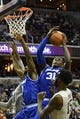 Feb 10, 2018; Washington, DC, USA;  Seton Hall Pirates center Angel Delgado (31) pulls down a defensive rebound over Georgetown Hoyas center Jessie Govan (15) during the second half at Capital One Arena. Mandatory Credit: Tommy Gilligan-USA TODAY Sports