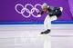 Feb 13, 2018; Pyeongchang, South Korea; Shani Davis (USA) prepares to compete in mens 1500m speed skating during the Pyeongchang 2018 Olympic Winter Games at Gangneung Ice Arena. Mandatory Credit: Robert Hanashiro-USA TODAY Sports