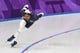 Feb 13, 2018; Pyeongchang, South Korea; Shani Davis (USA) competes in mens 1500m speed skating during the Pyeongchang 2018 Olympic Winter Games at Gangneung Ice Arena. Mandatory Credit: Robert Hanashiro-USA TODAY Sports