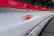 Feb 13, 2018; Pyeongchang, South Korea; John Farrow of Austria in the Men's Skeleton Men's Official Traing during the Pyeongchang 2018 Olympic Winter Games at the Olympic Sliding Center. Mandatory Credit: Peter Casey-USA TODAY Sports