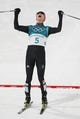 Feb 14, 2018; Pyeongchang, South Korea; Eric Frenzel (GER) celebrates upon completing the cross country portion of mens nordic combined during the Pyeongchang 2018 Olympic Winter Games at Alpensia Ski Jumping Centre. Mandatory Credit: Jeff Swinger-USA TODAY Sports