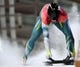 Feb 15, 2018; Pyeongchang, South Korea; John Farrow (AUS) slides to the end of his run in the skeleton event during the Pyeongchang 2018 Olympic Winter Games at Olympic Sliding Centre. Mandatory Credit: Kevin Jairaj-USA TODAY Sports
