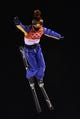 Feb 15, 2018; Pyeongchang, South Korea; Mengtao Xu (CHN) competes in freestyle skiing ladies aerials qualification 1 during the Pyeongchang 2018 Olympic Winter Games at Phoenix Snow Park. Mandatory Credit: Jack Gruber-USA TODAY Sports