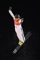Feb 15, 2018; Pyeongchang, South Korea; Lydia Lassila (AUS) competes in freestyle skiing ladies aerials qualification 2 during the Pyeongchang 2018 Olympic Winter Games at Phoenix Snow Park. Mandatory Credit: Jack Gruber-USA TODAY Sports