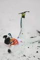 Feb 15, 2018; Pyeongchang, South Korea; Lydia Lassila (AUS) falls in freestyle skiing ladies aerials qualification 2 during the Pyeongchang 2018 Olympic Winter Games at Phoenix Snow Park. Mandatory Credit: Jack Gruber-USA TODAY Sports