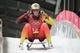 Feb 15, 2018; Pyeongchang, South Korea; Natalie Geisenberger (GER) in team relay luge competition during the Pyeongchang 2018 Olympic Winter Games at Olympic Sliding Centre. Mandatory Credit: Kevin Jairaj-USA TODAY Sports