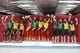 Feb 15, 2018; Pyeongchang, South Korea; Alex Gough (CAN) and Sam Edney (CAN) and Tristan Walker and Justin Snith (CAN) and Madeleine Egle (AUT) and David Gleirscher (AUT) and Peter Penz and Georg Fischler (AUT) and Natalie Geisenberger (GER) and Johannes Ludwig (GER) and Tobias Wendl and Tobias Arlt (GER) react on the podium after team relay luge competition during the Pyeongchang 2018 Olympic Winter Games at Olympic Sliding Centre. Mandatory Credit: Soobum Im-USA TODAY Sports