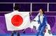 Feb 18, 2018; Pyeongchang, South Korea; Nao Kodaira (JPN) and Sang-Hwa Lee (KOR) celebrates after the women   s speed skating 500m during the Pyeongchang 2018 Olympic Winter Games at Gangneung Ice Arena. Mandatory Credit: Dan Powers-USA TODAY Sports