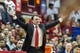 Feb 23, 2018; Bloomington, IN, USA; Indiana Hoosiers head coach Archie Miller argues a call in the second half against the Ohio State Buckeyes at Assembly Hall. Mandatory Credit: Trevor Ruszkowski-USA TODAY Sports