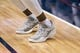 Mar 11, 2018; Dallas, TX, USA; A view of the shoes of Houston Rockets forward Luc Mbah a Moute (12) before the game between the Dallas Mavericks and the Rockets at the American Airlines Center. Mandatory Credit: Jerome Miron-USA TODAY Sports