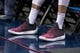 Mar 11, 2018; Dallas, TX, USA; A view of the shoes of Houston Rockets guard Gerald Green (14) before the game between the Dallas Mavericks and the Rockets at the American Airlines Center. Mandatory Credit: Jerome Miron-USA TODAY Sports
