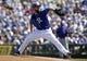 Mar 14, 2018; Surprise, AZ, USA; Kansas City Royals starting pitcher Ian Kennedy (31) throws against the Chicago Cubs at Surprise Stadium. Mandatory Credit: Rick Scuteri-USA TODAY Sports