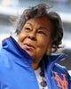 Apr 15, 2018; New York City, NY, USA; widow Rachel Robinson, the widow of Jackie Robinson, stands on the field during a Jackie Robinson Day ceremony before a game between the New York Mets and the Milwaukee Brewers at Citi Field. Mandatory Credit: Brad Penner-USA TODAY Sports