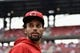 Apr 21, 2018; St. Louis, MO, USA; Cincinnati Reds center fielder Billy Hamilton (6) looks on prior to a game against the St. Louis Cardinals at Busch Stadium. Mandatory Credit: Jeff Curry-USA TODAY Sports