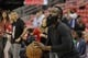 May 14, 2018; Houston, TX, USA; Houston Rockets guard James Harden (13) warms up before game one of the Western conference finals of the 2018 NBA Playoffs against the Golden State Warriors at Toyota Center. Mandatory Credit: Erik Williams-USA TODAY Sports