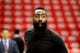 May 14, 2018; Houston, TX, USA; Houston Rockets guard James Harden (13) prior to the game against the Golden State Warriors in game one of the Western conference finals of the 2018 NBA Playoffs at Toyota Center. Mandatory Credit: Erik Williams-USA TODAY Sports