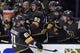 May 16, 2018; Las Vegas, NV, USA; Vegas Golden Knights center Jonathan Marchessault (81) celebrates with his team after scoring a goal during the first period in game three of the Western Conference Final of the 2018 Stanley Cup Playoffs against the Winnipeg Jets at T-Mobile Arena. Mandatory Credit: Kirby Lee-USA TODAY Sports
