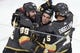 May 16, 2018; Las Vegas, NV, USA; Vegas Golden Knights right wing Alex Tuch (89) celebrates with left wing Erik Haula (56) and defenseman Deryk Engelland (5) after scoring a goal during the second period in game three of the Western Conference Final of the 2018 Stanley Cup Playoffs against the Winnipeg Jets at T-Mobile Arena. Mandatory Credit: Kirby Lee-USA TODAY Sports