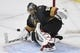 May 16, 2018; Las Vegas, NV, USA; Vegas Golden Knights goalie Marc-Andre Fleury (29) makes a save during the second period in game three of the Western Conference Final of the 2018 Stanley Cup Playoffs against the Winnipeg Jets at T-Mobile Arena. Mandatory Credit: Kirby Lee-USA TODAY Sports